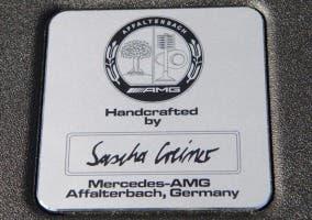 Placa de fabricación Mercedes-AMG