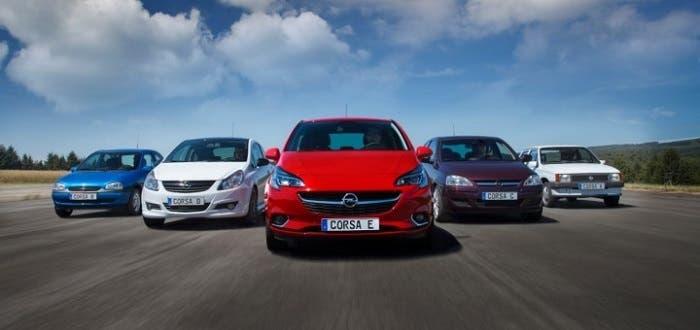 Generaciones del Opel Corsa