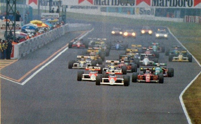 Inicio GP F1 Suzuka 1989