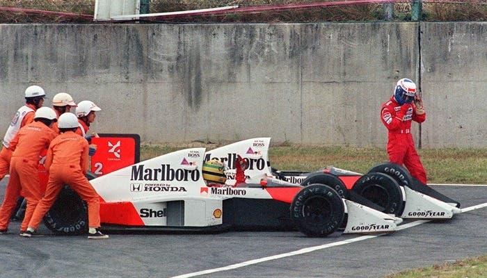 Colisión entre los dos McLaren en el GP F1 Suzuka 1989