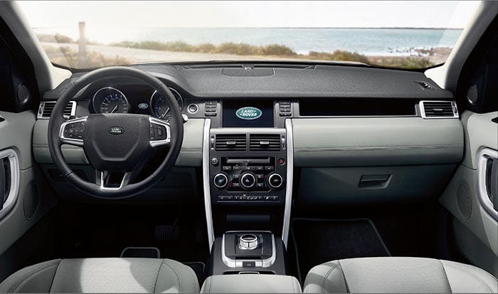 Interior del Land Rover Discovery Sport
