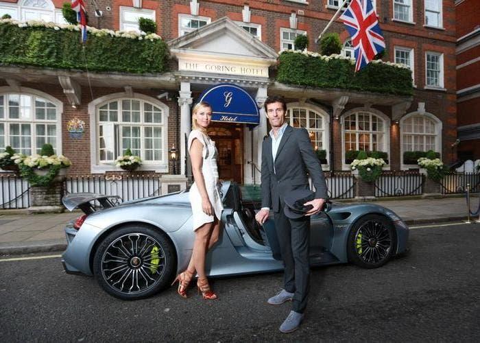 Porsche 918 Spyder con Maria Sharapova y Mark Webber