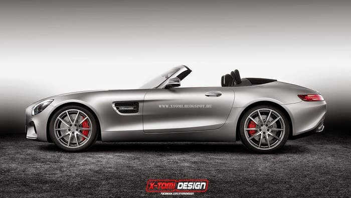 Mercedes AMG GT Cabrio lateral