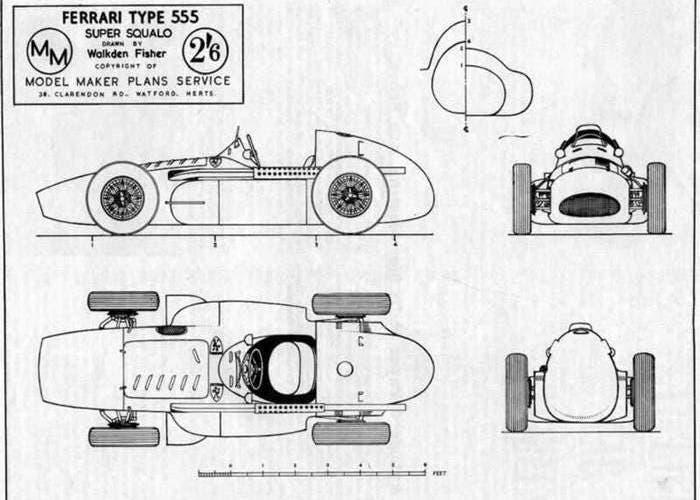 Planos de un Ferrari