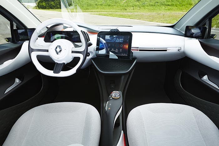 Interior del Renault EOLAB