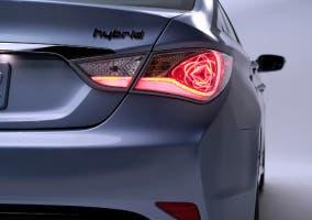 Parte trasera del Hyundai Sonata hybrid