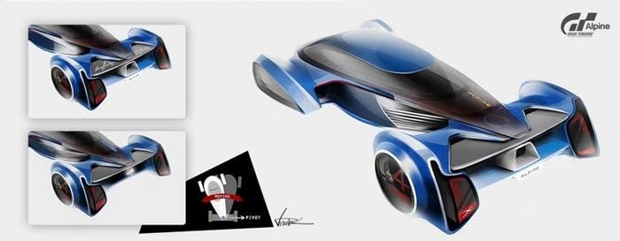 Esquema del Alpine GT Vision Concept