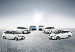 Foto de la gama híbrida Toyota