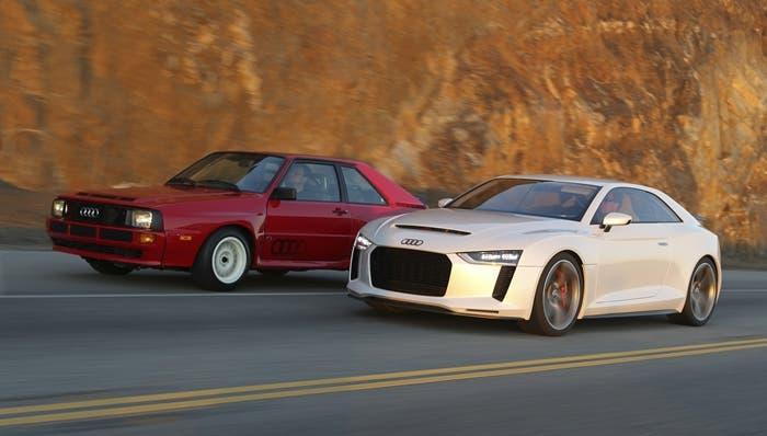 Prototipo Audi Quattro Concept con el modelo original