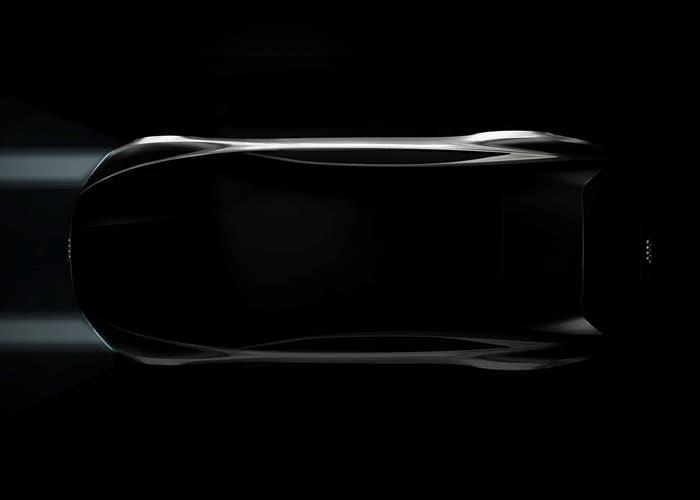 Vista cenital del prototipo de Audi para el salón de Los Ángeles