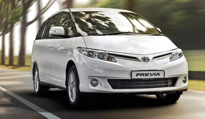 Vista frontal del Toyota Previa