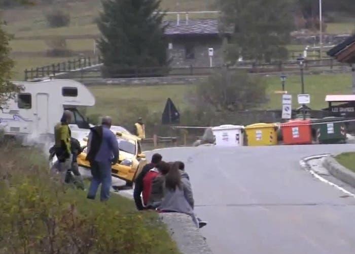 Brutal accidente en un rally