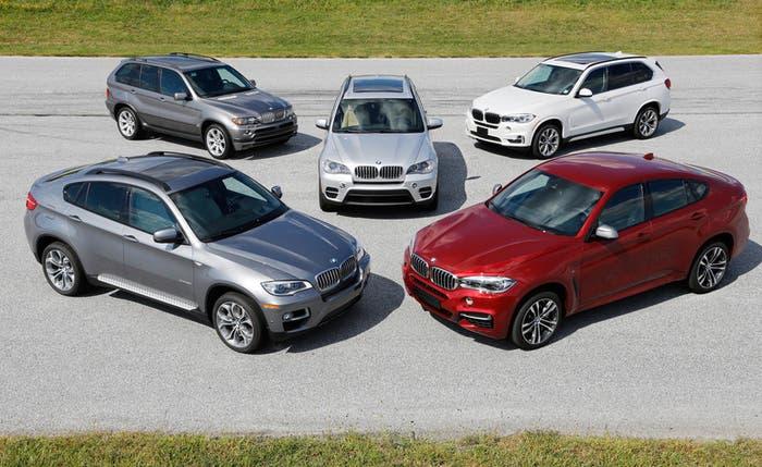Varios modelos de la gama X de BMW