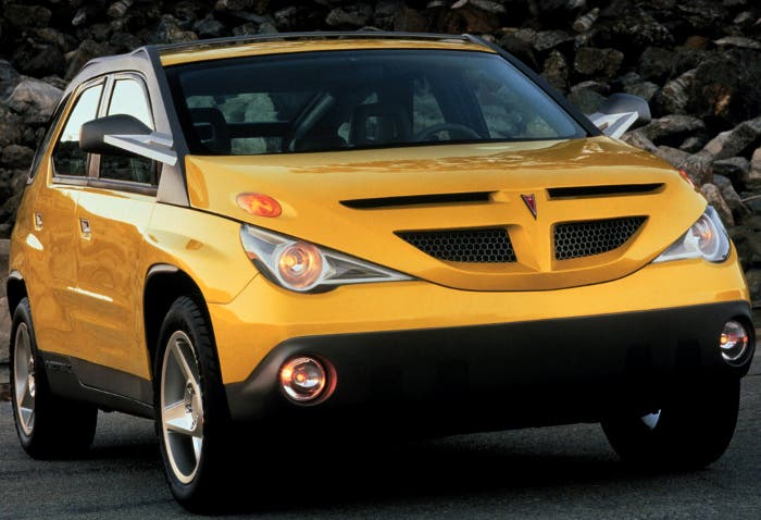 Vista frontal del prototipo del Pontiac Aztek