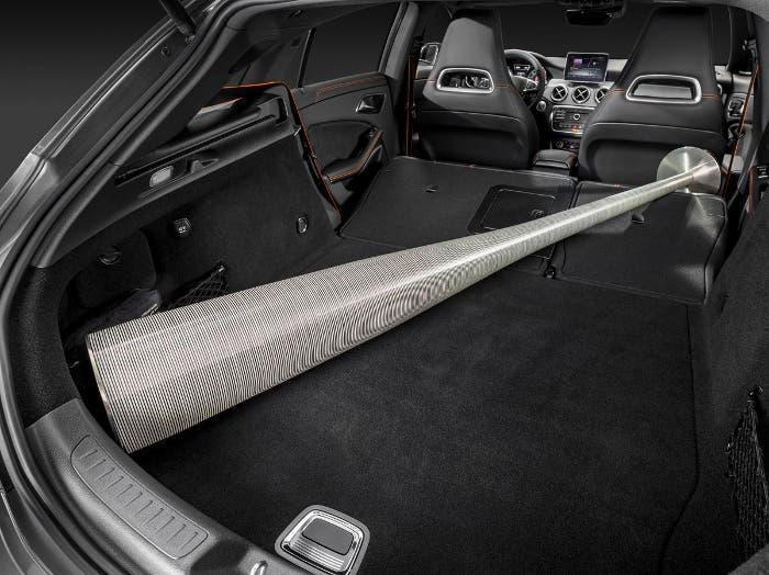Maletero con los asientos abatidos del Mercedes CLA shooting brake