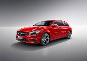 Vista frontolateral del nuevo Mercedes CLA shooting brake