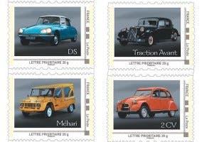 Coches de Citroën en sellos