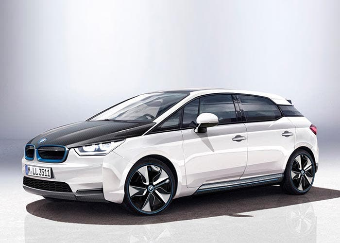 Frontal de un render del BMW i5