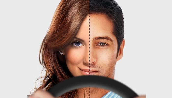 Hombre y mujer al volante