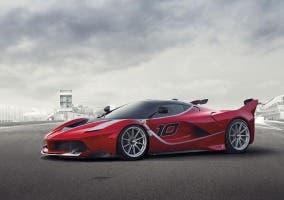 Frontal del Ferrari FXX K