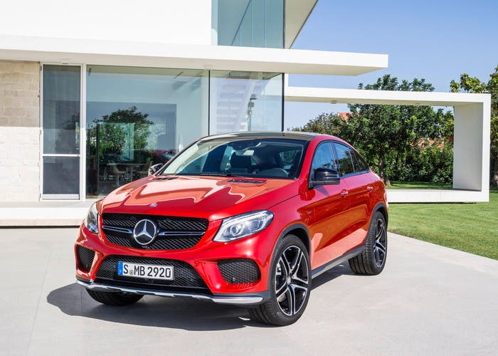 Frontal mercedes GLE coupe