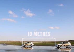 Diferencia entre frenar con neumáticos de marca y chinos