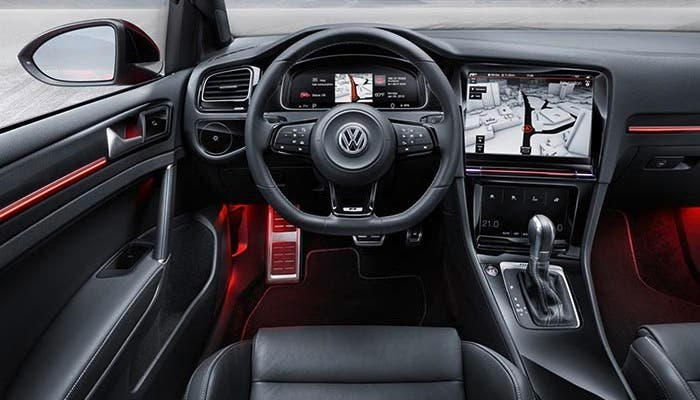 Interior del Volkswagen Golf R Touch