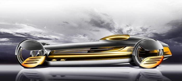 Coche futurista de Mercedes