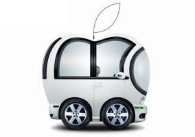 Caricatura de cómo sería el Apple Car