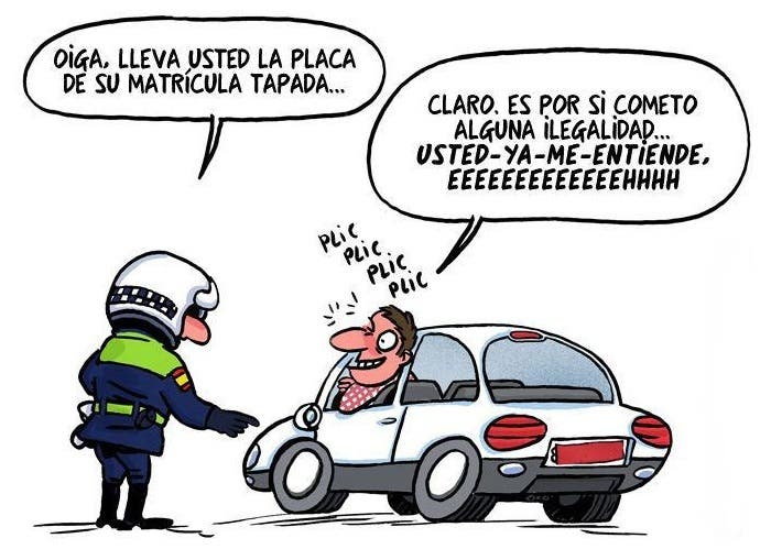 Viñeta cómica de Guardia Civil