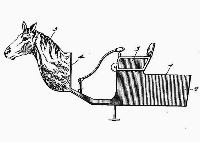 Esquema de la patente del Horsey Horseless