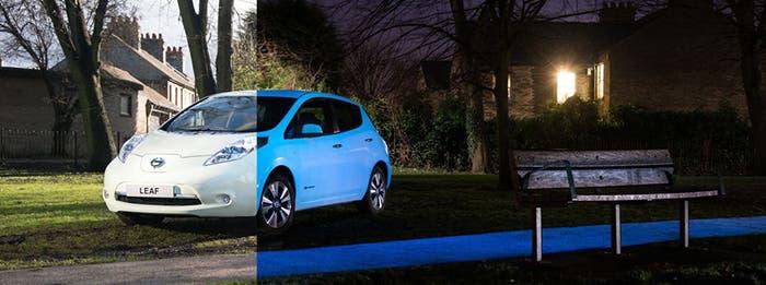 Nissan Leaf, comparado de día y de noche
