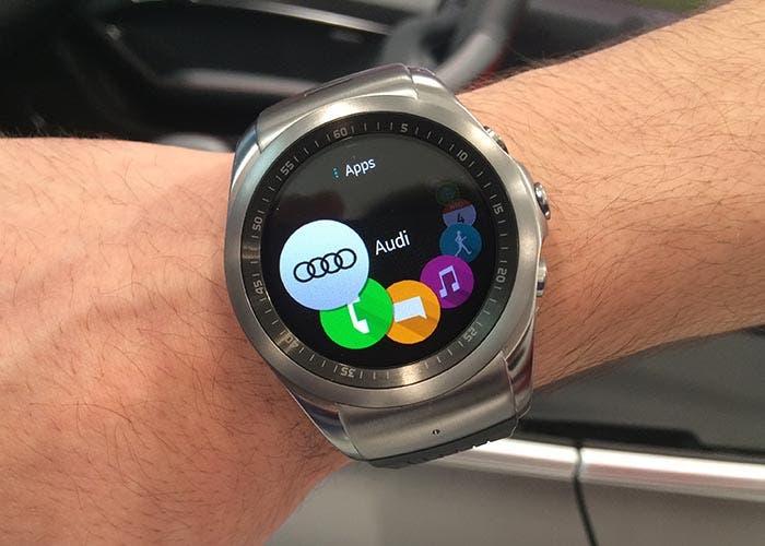 Aplicación de Audi en el LG Watch Urbane