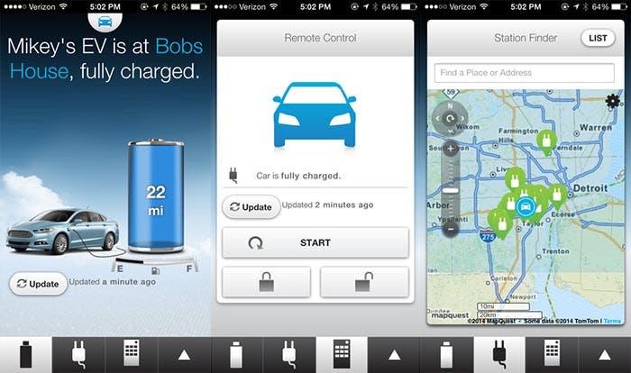 Capturas de la app de MyFord Mobile