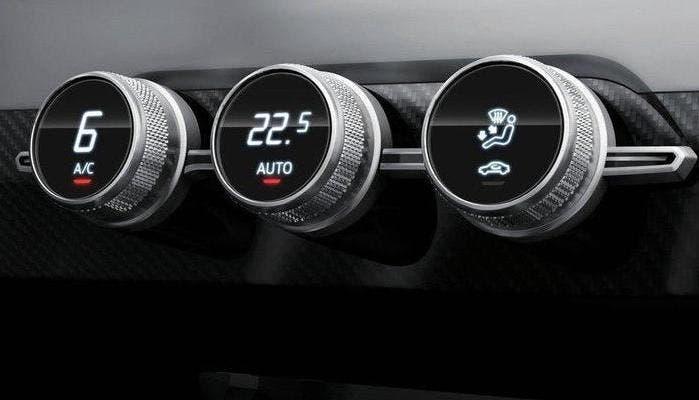 Climatizador de coche futurista