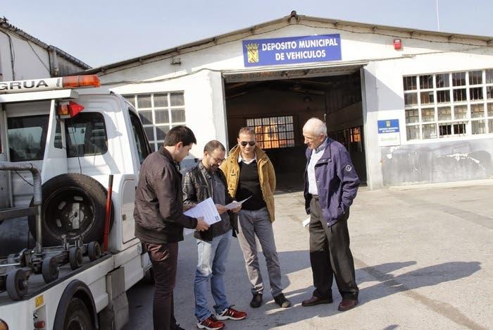 Depósito municipal de vehículos de localidad