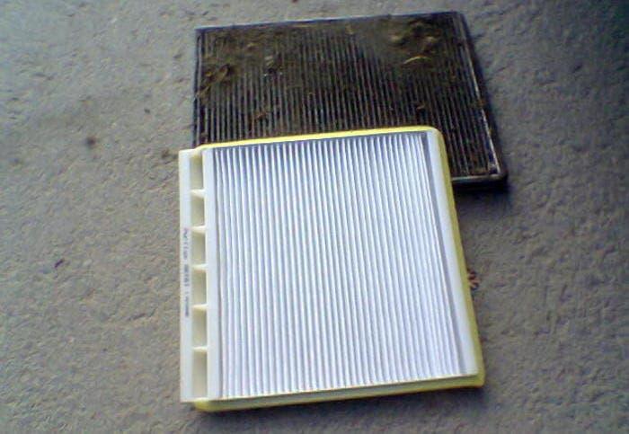 Filtro antipolen limpio y sucio