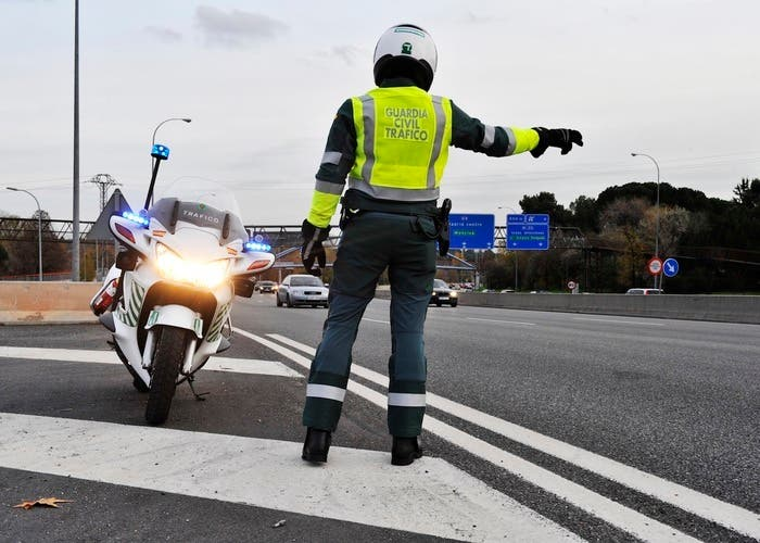 Motorista de la Guardia Civil