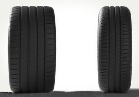 Neumático ancho y neumático estrecho