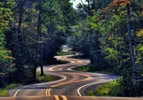 Curvas en la carretera