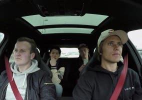 Jon Olsson hace de chófer para transporte de pasajeros en Uber