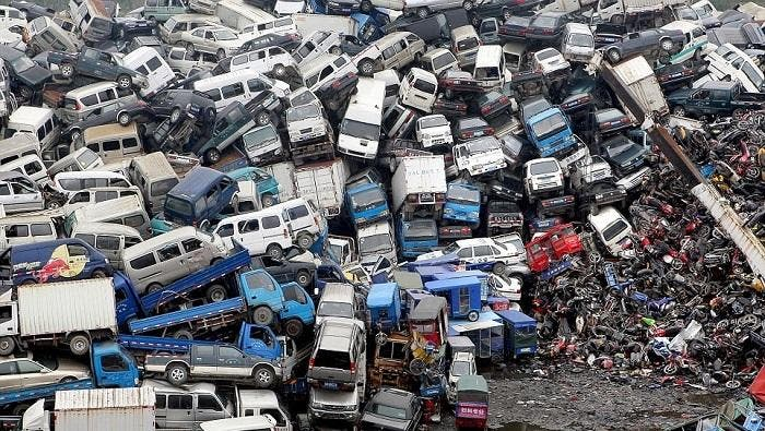 Cementerio de coches chino