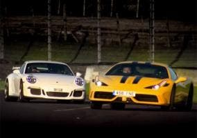Ferrari 458 Speciale y Porsche 911 GT3