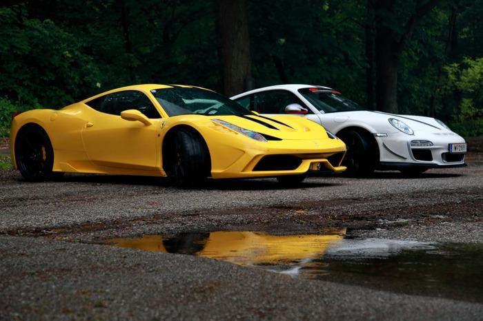 Ferrari Speciale vs Porsche GT3