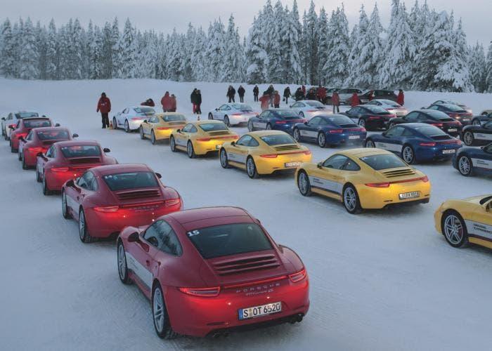Porsche en la nieve