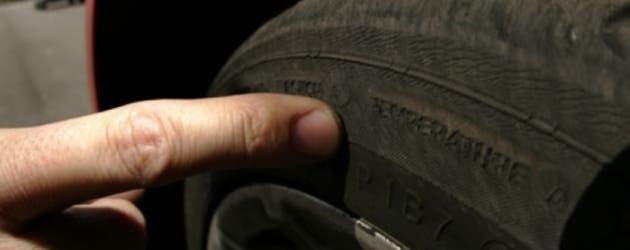 Neumático desgastado