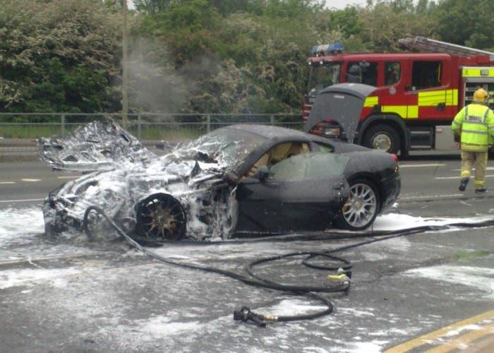 Ferrari Fiorano quemado