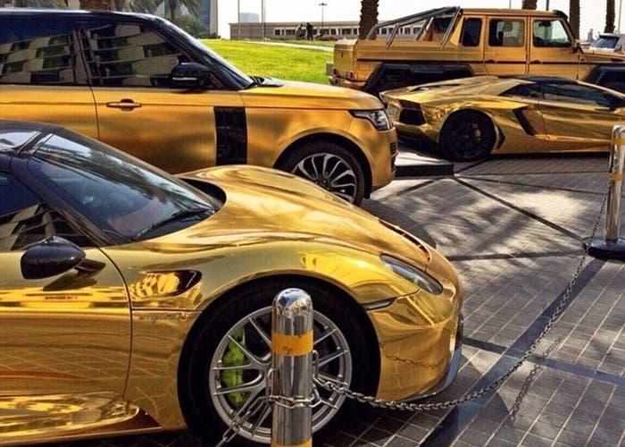 Flota bañada en oro