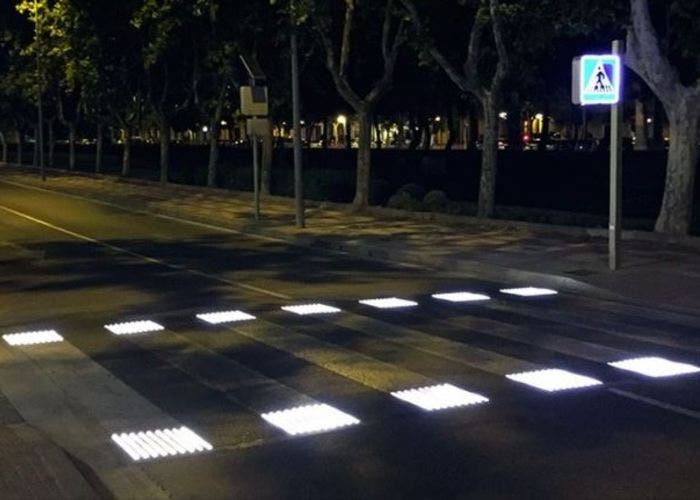 Paso de cebra LED