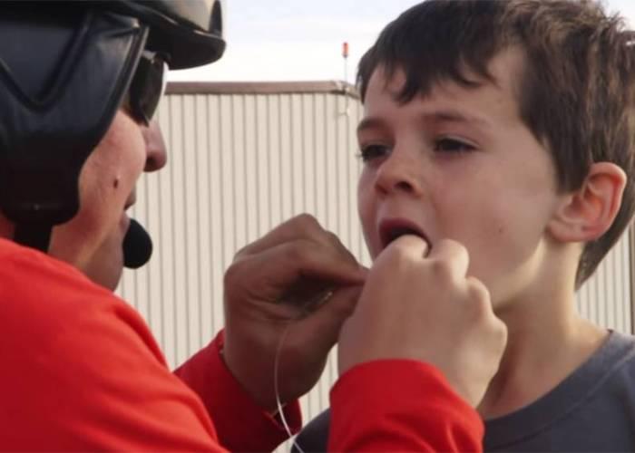 Helicóptero quitar diente